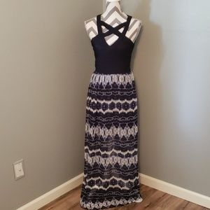 FLASH SALE 3 for $25 Crystal Doll Navy Maxi Dress
